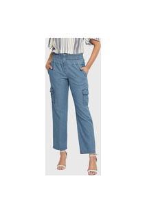 Calça Jeans Cargo Delave Miss Joy 6756