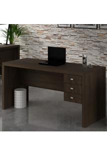 Mesa Para Escritório 3 Gavetas Rústico Me4113 - Tecno Mobili