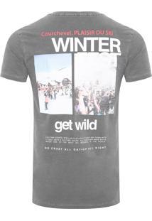 Camiseta Masculina Winter Fest - Cinza