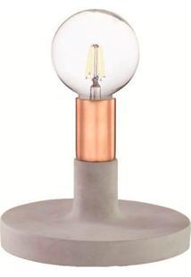Luminária De Mesa Com Base Em Cimento 6627 - Mart - Cobre