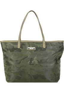 Bolsa Santa Lolla Shopper Camuflada Feminina - Feminino-Musgo