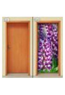 Adesivo Decorativo De Porta - Flores - 1598Cnpt