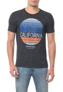 Camiseta Calvin Klein Jeans Mc Estampa California Preta Camiseta Ckj Mc Estampa California - Preto - P