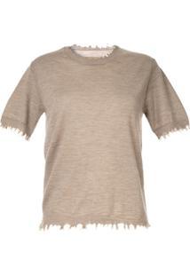 Uma Wang Blusa De Cashmere - Marrom