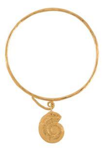 Natalie Perry Pulseira Ammonite Com Pingente - Dourado
