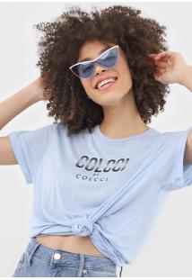 Blusa Colcci Lettering Azul