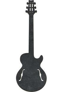 Quadro Decorativo Lousa De Giz Guitarra- Preto- 59X2Cia Laser