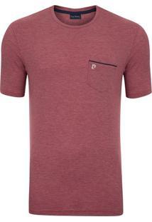Camiseta Com Bolso Listrada Vermelha Freedom