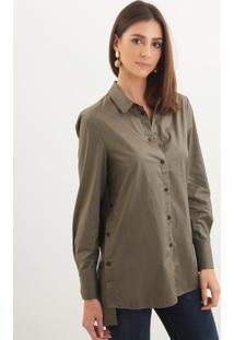 Camisa Le Lis Blanc Erin Verde Feminina (Tabaco, P)
