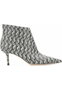 Jimmy Choo Ankle Boot Marinda Com Salto 65Mm - Prateado