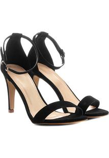 Sandália Couro Shoestock Salto Fino Naked Feminina