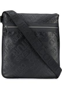 Versace Jeans Couture Bolsa Tote Com Logo Em Relevo - Preto