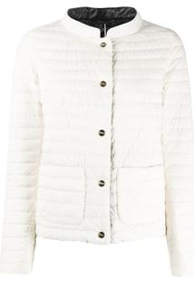 Herno Quilted-Down Patch Pocket Jacket - Branco
