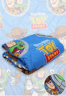 Edredom Solteiro Lepper Dupla Face Microfibra Toy Story 1,50 M X 2,20 M Azul - Azul - Dafiti