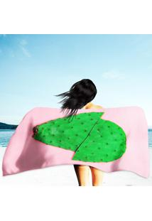Toalha De Praia / Banho Cacto Pink