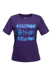 Tshirt Estampada Made In Mato Letters Figo Multicolorido