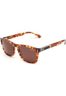 Óculos De Sol Colcci Geométrico Tartaruga Marrom