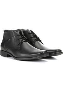 Sapato Social Ferracini Cano Médio Perfuros Masculino - Masculino-Preto