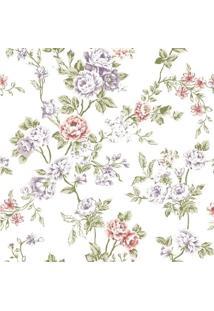 Papel De Parede Adesivo Flores Funco Branco