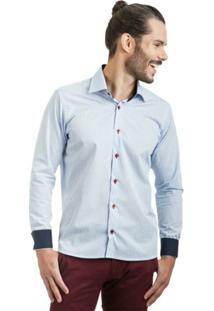 Camisa Di Sotti Xadrez Azul Claro - Masculino