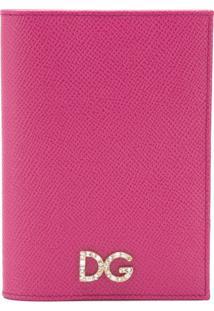 Dolce & Gabbana Carteira De Couro Com Logo - Rosa