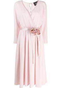 Marc Jacobs Vestido Envelope Rosette - Rosa