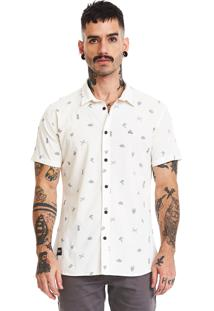 Camisa Estampada Manga Curta Lavíbora Skull Bones