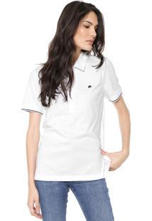 Camisa Polo Banana Republic Reta Bordado Branca