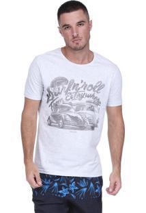 Camiseta King&Joe Fusca Mescla Branca
