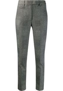 Dondup Check Pattern Trousers - Preto