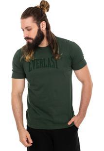 Camiseta Everlast Textura Grade Verde Militar