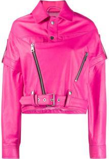 Manokhi Boxy Fit Jacket - Rosa