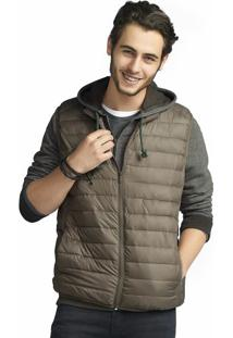 Colete Masculino Básico Acolchoado Em Modelagem Comfort