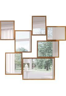Espelho Decorativo Savona 127X124 Cm Madeira