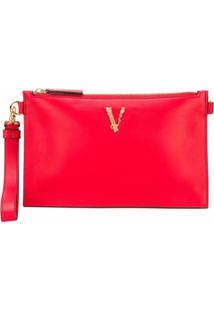 Versace Bolsa Tiracolo Virtus - Vermelho