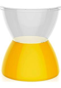 Banco | Banqueta Hydro Policarbonato Cristal E Amarelo I'M In
