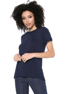 Camiseta Maria Filó Pelo Azul-Marinho