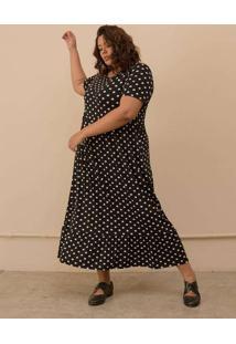 Vestido Gabriela Plus Size Preto-Exg Preto