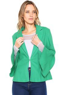 Blazer Colcci Babados Verde