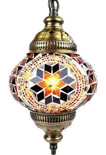 Luminária Pendente Turca Em Mosaico