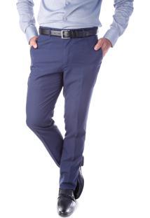 Calça 5559 Social Marinho Traymon Modelagem Slim