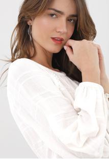 Blusa Maria Filó Texturizada Off-White