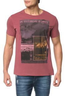 Camiseta Ckj Mc Estampa Praia Quadrados - Gg