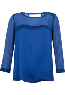 Blusa Colcci Comfort Femme Azul