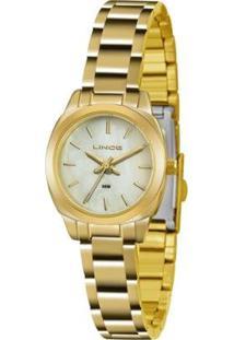 Relógio Feminino Lince Clássico Lrg4436L B1Kx Dour - Unissex-Prata