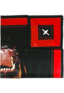 Givenchy Cachecol De Seda E Cashmere Com Estampa - Preto