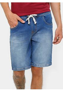 Bermuda Triton Lavada Reta Jeans Masculina - Masculino