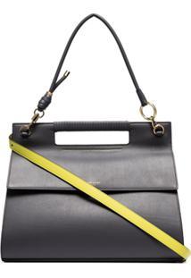 Givenchy Bolsa Tiracolo Whip Grande - Cinza