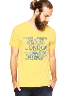 Camiseta Aleatory London Amarela