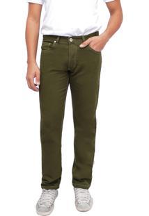 Calça Young Style Jeans Sarja Tradicional Verde
